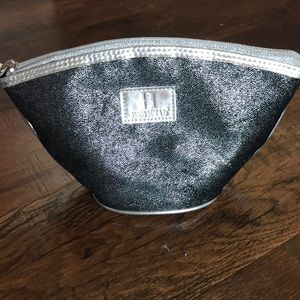 Bed Head Black and Silver Cosmetics Bag